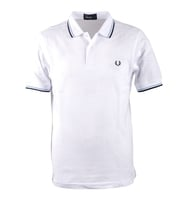 Fred Perry Polo White Ice