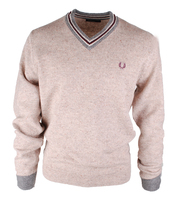 Fred Perry Pull Tennis V-Neck Beige
