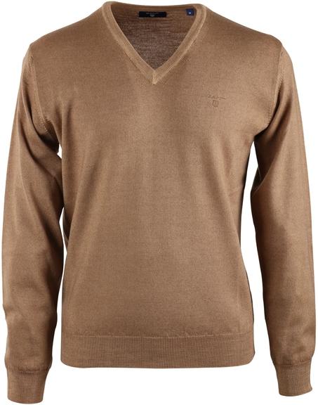 Gant Pullover V-neck Khaki