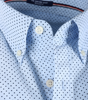Detail Gant Shirt Blue Pinpoint