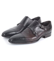 Greve Double Monk Strap Taupe Pitone Urban