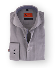 Grau Mini Kariert Hemd Slim Fit 112-05