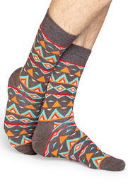 Detail Happy Socks Temple Oranje TEM01-8000