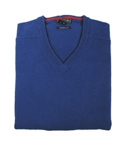 Lamswol Trui V-Neck Regal Royal Blue