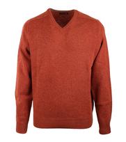 Pullover Lammwolle Orange