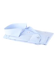 Detail Ledub Overhemd Blauw Non Iron