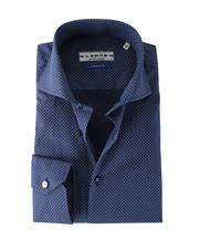 Ledub Overhemd Donkerblauw Print