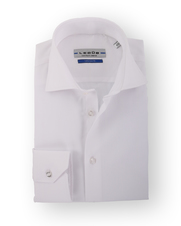 Ledub Overhemd Uni White Twill