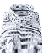 Detail Ledub Overhemd Wit Print