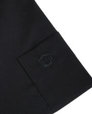 Detail Ledub Overhemd Zwart Modern Fit