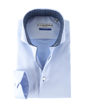 Detail Ledub Shirt Blauw Non Iron