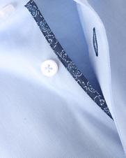Detail Ledub Shirt Blauw Non Iron