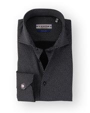 Ledub Sleeve 7 Overhemd Zwart Print