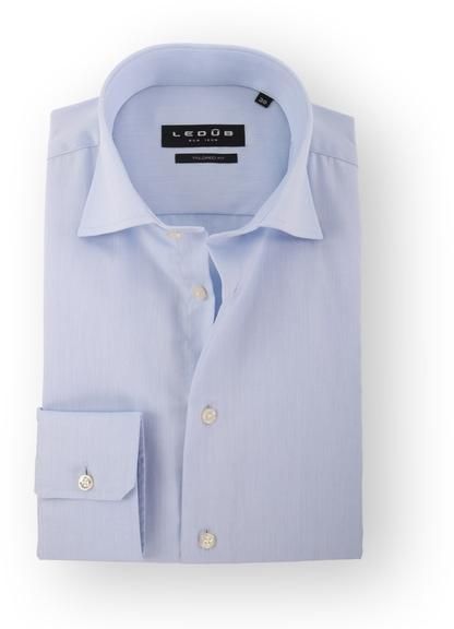 Ledub Strijkvrij Overhemd Blauw