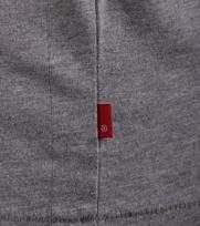 Detail Levi\'s T-shirt Logo Print Graphic Grijs