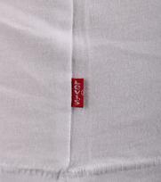 Detail Levi\'s T-shirt Logo Print Wit