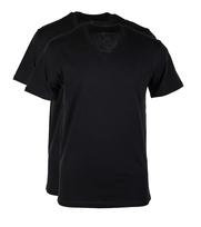 Levi\'s T-shirt V-Hals Zwart 2Pack