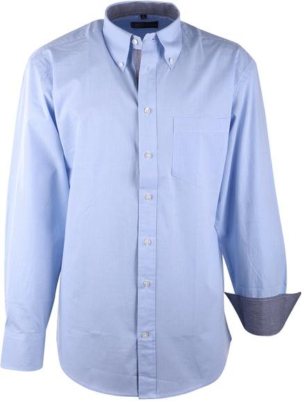 Lichtblauw Casual Overhemd Ruit