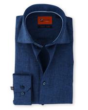 Linnen Overhemd Donkerblauw 61-06