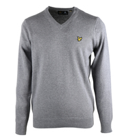 Lyle & Scott Pullover V-Neck Grijs