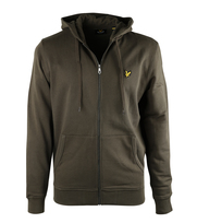 Lyle & Scott Zip Through Hoodie Green