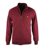 Lyle & Scott Zip Through Sweartshirt Bordeaux