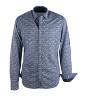 Marc O\'Polo Overhemd Donkerblauw Bloem