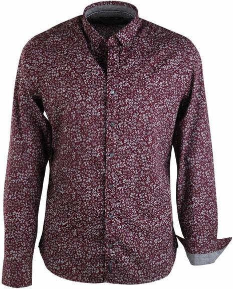 Marc O\'Polo Overhemd Bordeaux Bloemen Print