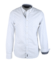 Marc O\'Polo Overhemd Wit Dessin