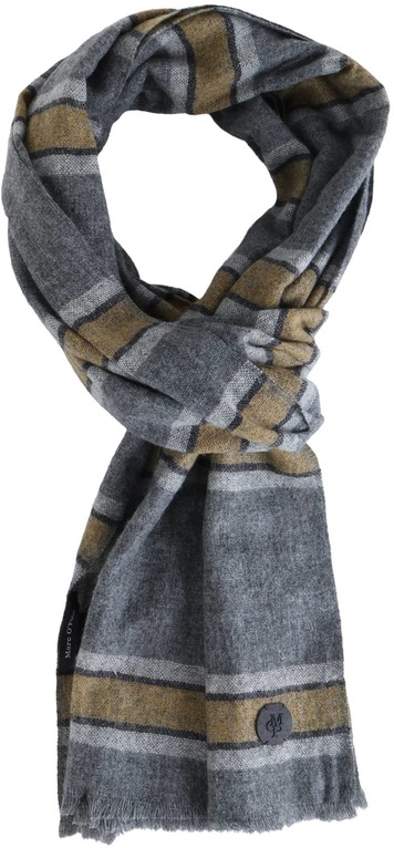 Marc O\'Polo Scarf Dark Grey Stripe