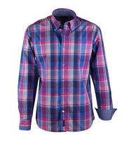 McGregor Fuchsia Blauw Overhemd Regular Fit