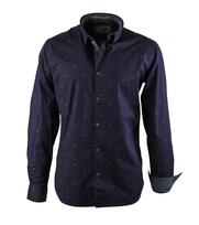 No-Excess Shirt Donkerblauw Print