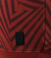 Detail No-Excess Sweater Brique Print