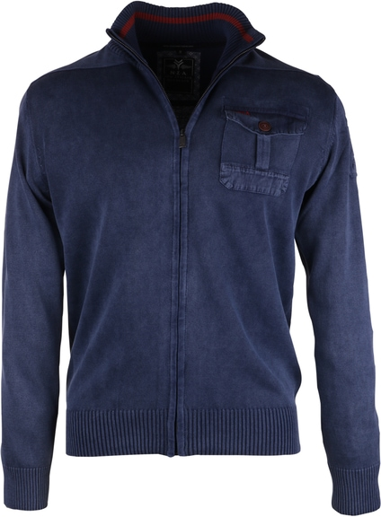 NZA Cardigan Blau Zipper