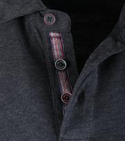 Detail NZA Longsleeve Poloshirt Antraciet 16KN208
