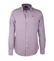 NZA Overhemd Roze Print 16AN542