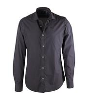 NZA Overhemd Zwart Dessin 16GN509
