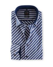 Olymp Body Fit Shirt Diagonal Dessin