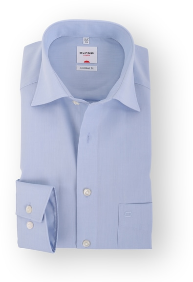 OLYMP Luxor Comfort Fit Overhemd Blauw