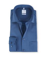 Olymp Comfort Fit Shirt Blauw Print