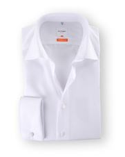 Olymp Dubbelmanchet Overhemd Wit