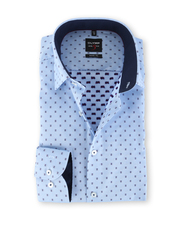 Olymp Level Five Body Fit Shirt Blue