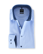 Olymp Luxor Shirt Blauw Modern Fit