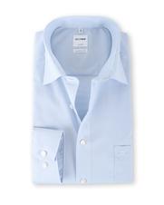 OLYMP Luxor Shirt Blauw Ruit Comfort Fit €64.954445464748