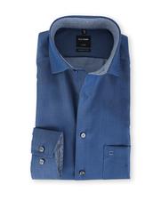 Olymp Luxor Shirt Marineblauw Modern Fit