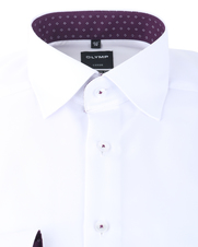 Detail Olymp Luxor Shirt Modern Fit Wit + Paars