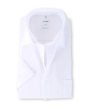 OLYMP Luxor Shirt Wit Comfort Fit Korte Mouw