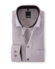 Olymp Modern Fit Overhemd Grijs Print