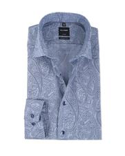Olymp Modern Fit Shirt Blauw Print