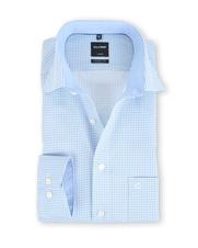 Olymp Modern Fit Shirt Blauw met Print